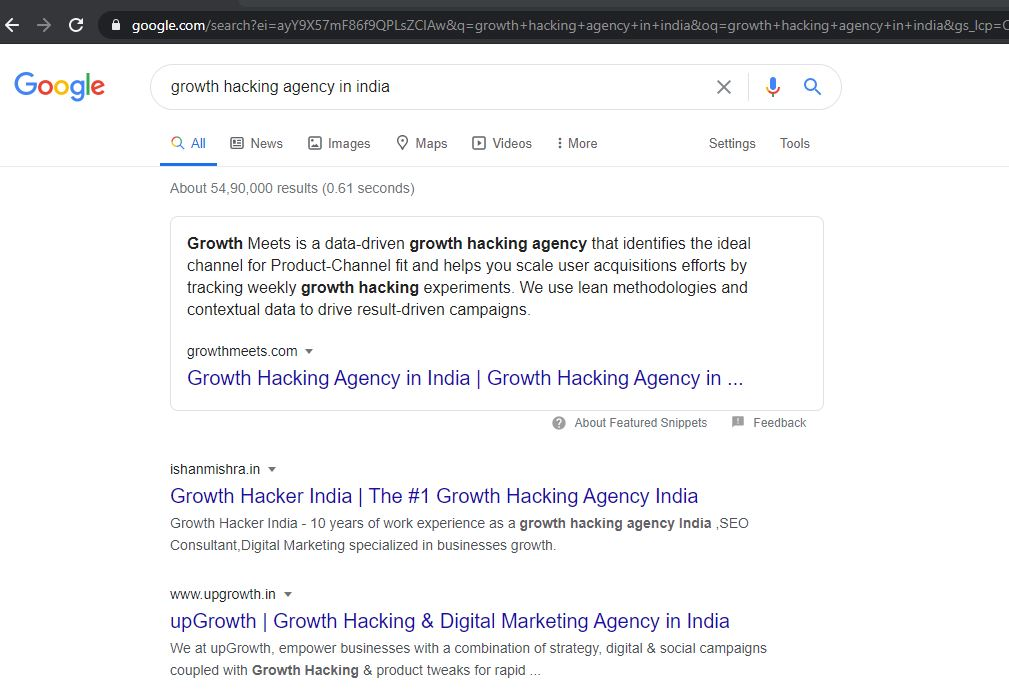 Featured Snippet on Google